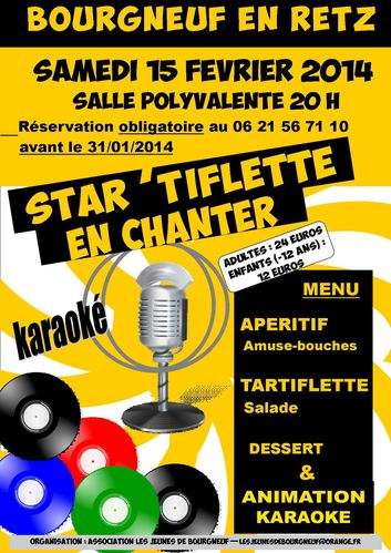 Affiche STAR TIFLETTE EN CHANTER 2014