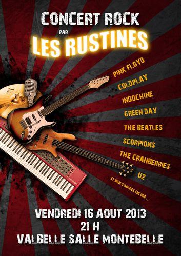 Affiche 3 Concert Rock 2013
