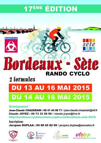 Affiche Bordeaux-Sète 2015