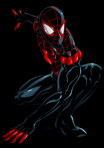 mile morales ultimate spider man by dlxcsccomicartist-d570x
