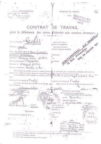 contrat de travail Gradl