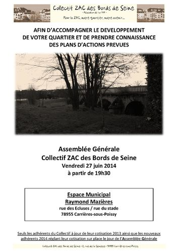 COZAC - Affiche Convocation AG 2014 A4