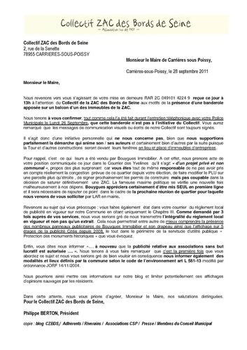 Collectif ZAC BdS - Réponse LRAR Banderole vdef