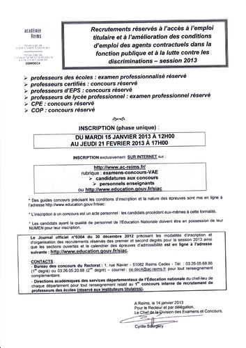 RECRUTEMENT RESSERVES PE PROFS CPE COP