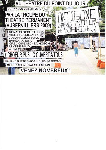 Choeur Antigone Theâtre Point du Jour 2012