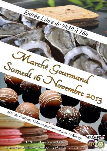 affiche journee gourmande