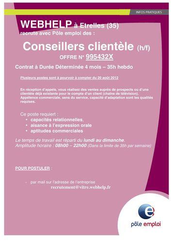 2012-08 Affiche Recrutement WEBHELP