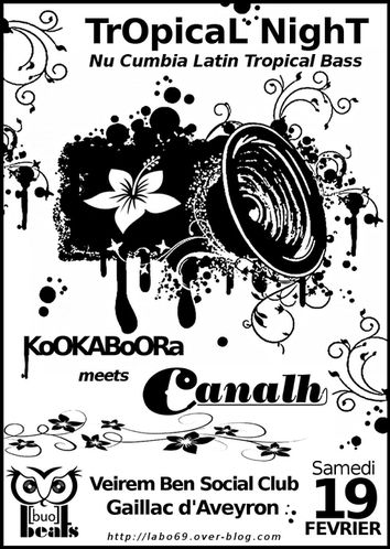 Tropical Night @ VBSC gaillac aveyron KOOKABOORA feat CANAL