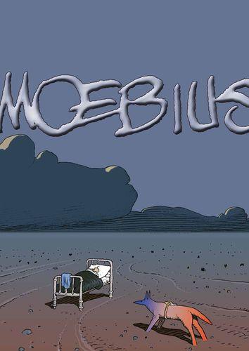 Moebius - Dessin retouché pour inclure la signature, à la