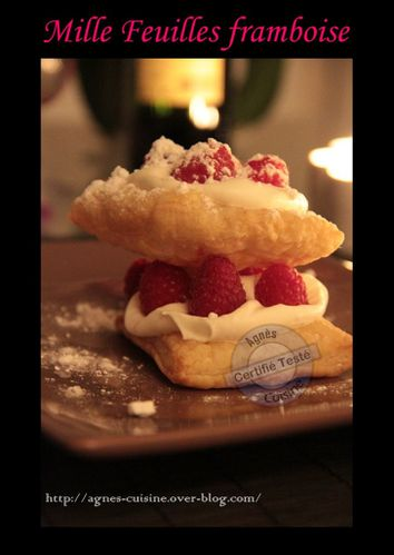 mille feuille framboise photo
