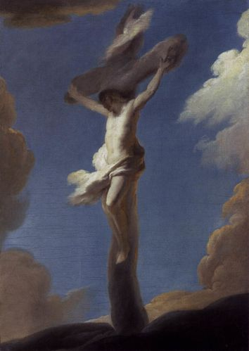 Christ on the Cross Formed by Clouds
