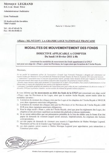 Note dépenses Legrand