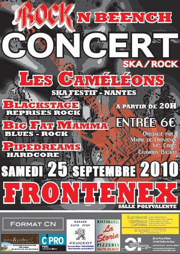 Affiche concert Frontenex