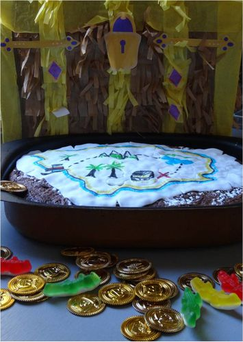 gateau pirate carte au tresor facile