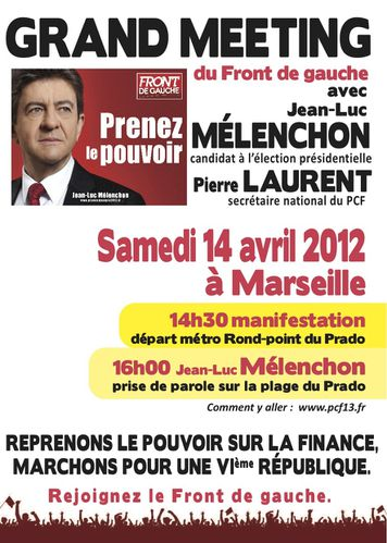 article melenchon candidat front gauche