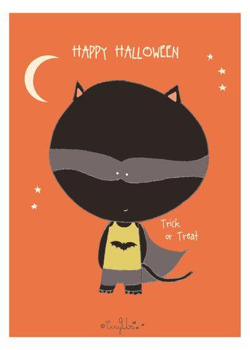 halloween card boy