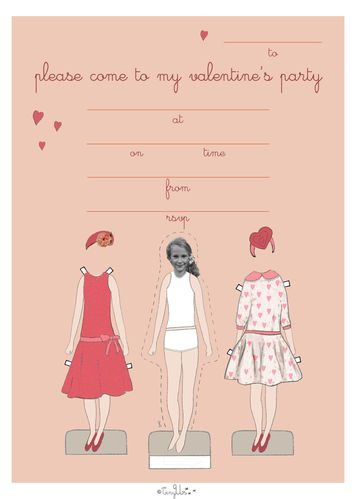 valentine custom invitation