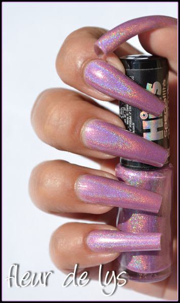 Vernis holographique mauve