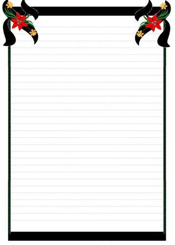 Papier à lettre fleur3