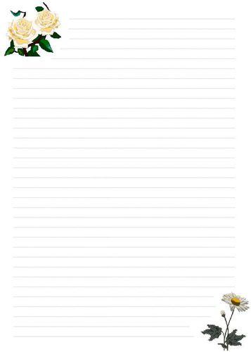 Papier à lettre fleur6
