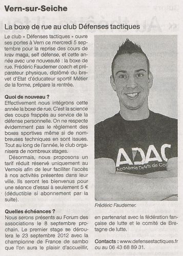 Ouest France - 05-09-2012