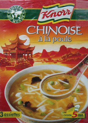 Knorr, Sachet, Soupe chinoise, France , 1998