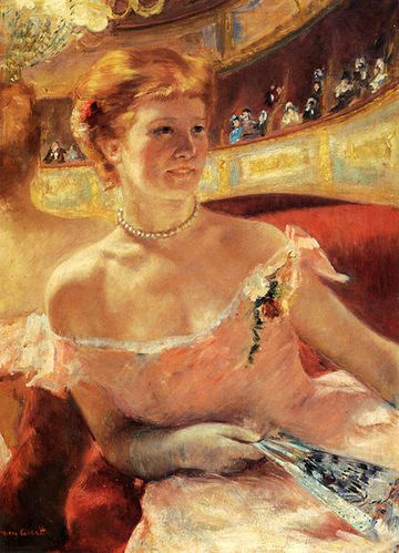 432px-Mary Cassatt - Woman with a Pearl Necklace