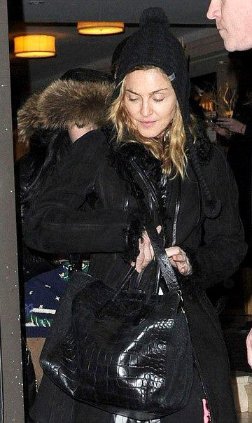 Madonna with photographer Steven Klein in New York on January 20, 2012