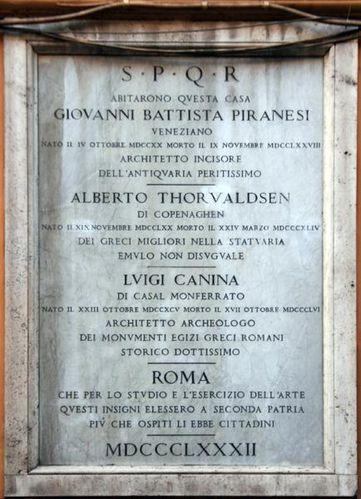 431c Rome, Piranèse et Thorvaldsen