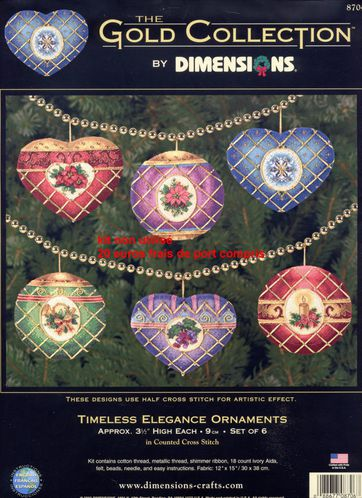 Timeless elegance ornaments, by Dimensions