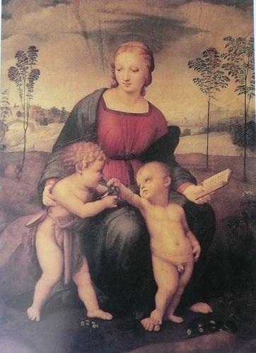 Raphaël La Vierge au chardonneret 1507 peinture sur bois 1