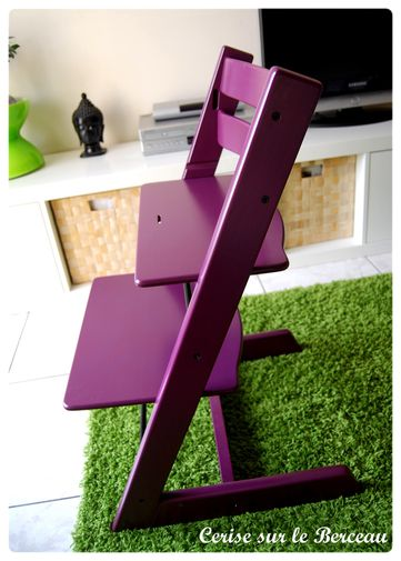 Chaise stokke prune for Avis chaise tripp trapp stokke