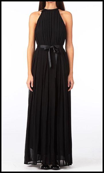Robe longue noire ete 2013