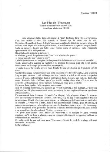 Atliers d'écritures (Mme Fodor)