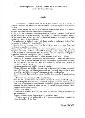Atliers d'écritures (Mr Fodor)