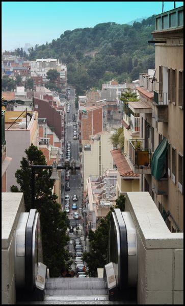 Barcelone - Gaudí - Parque Güell -montée