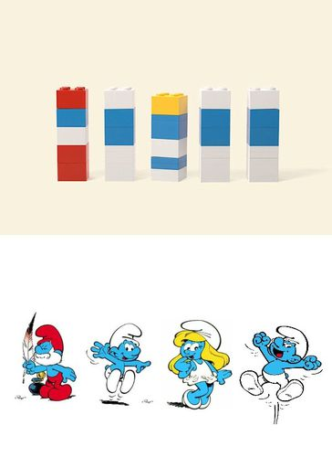 lego-schtroumpfs and co