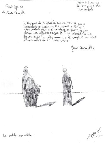 Antigone, Jean Anouilh, dessin lapoujade3