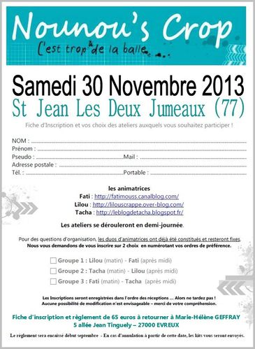 fiche inscription nounous crop novembre 2013