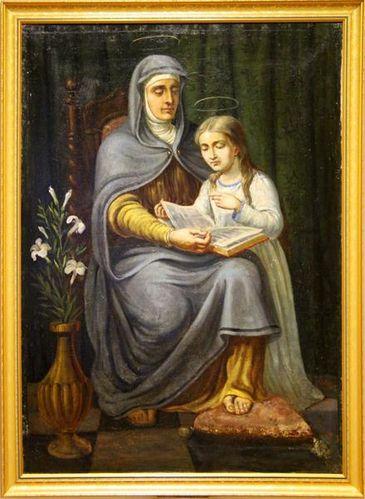 783j1 Anne apprenant à lire à Marie (1re partie 19e s.)