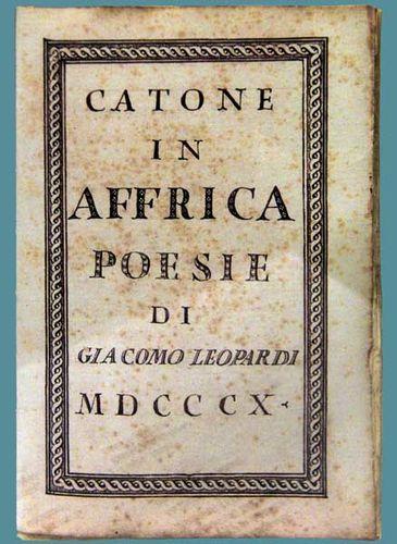 918e1 Caton en Afrique, manuscrit de Leopardi