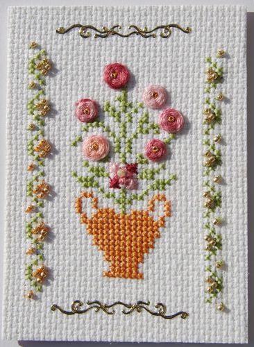 ATC novembre 2012 de Marie alphabet 2012 lettre V, Vase