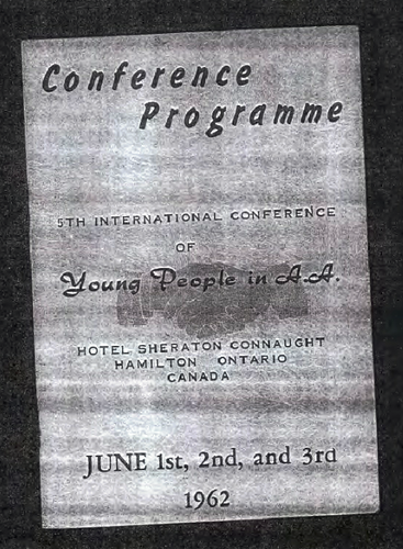 young people in aa 189b 5th conference 1962