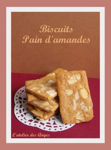 Biscuits Pain d'amande 2