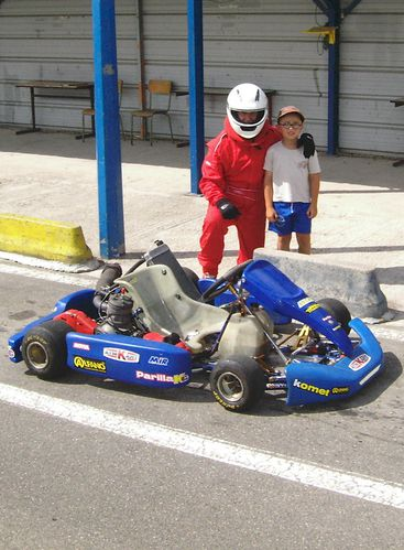 CHRISTIAN et PIERROT karting PASSION-MOTO