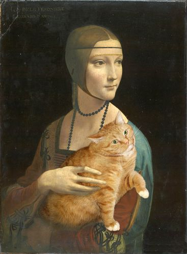 Leonardo da Vinci - Portrait of Cecilia Gallerani 02