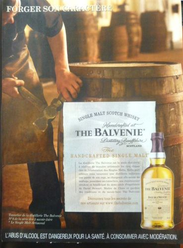 La main de l'Homme, Single Malt Scotch Whisky The Balvenie, 2012