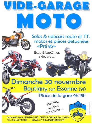 Bourse exposition motos side car boutigny 91 frico for Ouvrir un garage moto