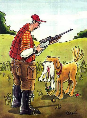 chasse lapin paques humour