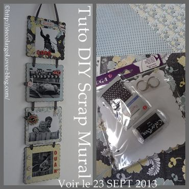 LABalbum photo mural TUTO DIY SCRAP